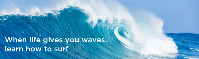 Learn how to flow with the waves life brings
