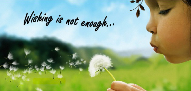Wishing is not enough