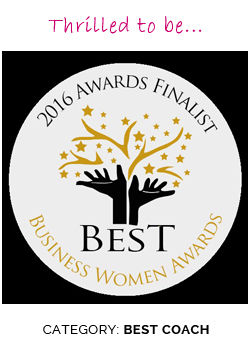 Thrilled to be a finalist for the Best Business Woman Awards 2016 – Category: BEST COACH