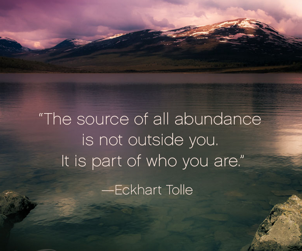 The Source of all abundance is not separate from you