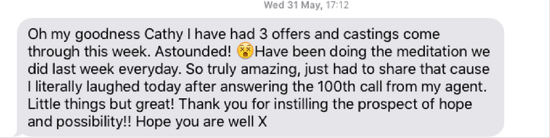 Testimonial from client